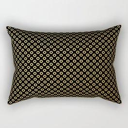 Black and gold dots design Rectangular Pillow