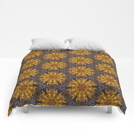 Abstract Pattern (Gold/Grape) Comforters