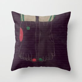 6 finger Throw Pillow