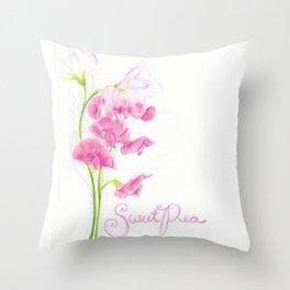 Sweet Pea Throw Pillow