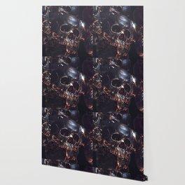Black Gold Skull Wallpaper