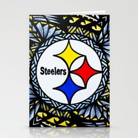 steelers Stationery Cards featuring New Tribal Steelers by Lonica Photography & Poly Designs