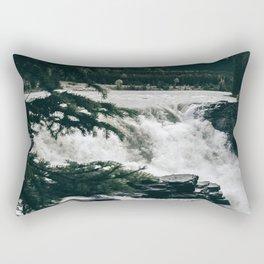 Athabasca Falls Rectangular Pillow