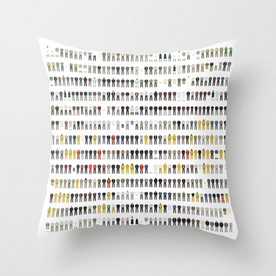 Walter White's Wardrobe - Complete Series Throw Pillow