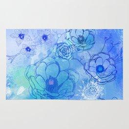 Blue Desert Rose Rug