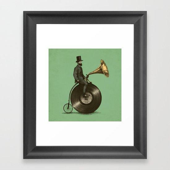 Music Man (Green Option) Framed Art Print