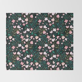 Wild Jasmine Throw Blanket