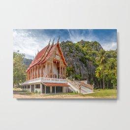 Mountain Temple Metal Print