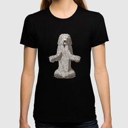 Meditating Komondor Dog T-shirt