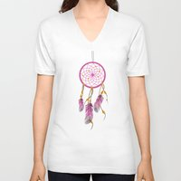 dreamcatcher V-neck T-shirts featuring Dreamcatcher by Fairytale ink