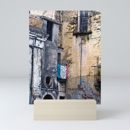 Medieval Sicilian Facade of Forza d'Agro Mini Art Print