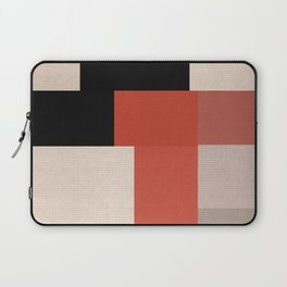 Retro Geometry 1 - black, red and beige Laptop Sleeve