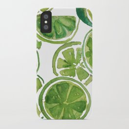 Watercolor LIMES iPhone Case