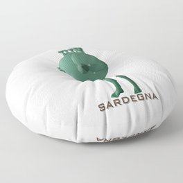 """Bronzetto nuragico"" Sardegna (Sardinia) by Mommotti Floor Pillow"