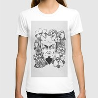 satan T-shirts featuring Floral Satan by Shaina Stern