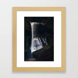 Middle North Falls Framed Art Print