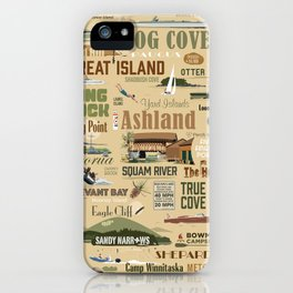 Squam-o-rama Print iPhone Case