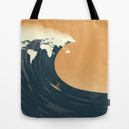 Surfing the World Tote Bag