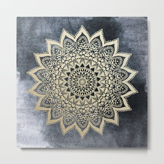 BOHO NIGHTS MANDALA Metal Print