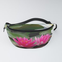 Water Lilies - Pink and White Fanny Pack
