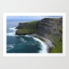 Cliffs of Moher View Art Print