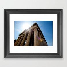 Temple of Hephaestus Framed Art Print