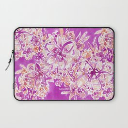 GOOD VIBES Wild Pink Watercolor Floral Laptop Sleeve