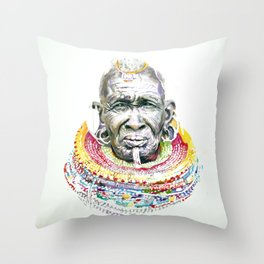 Maasai Throw Pillow