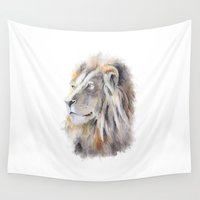 lion king Wall Tapestries featuring Lion King by pablolabel