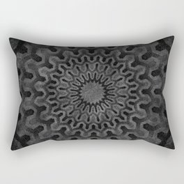 Dark Geometric mandala pattern Rectangular Pillow