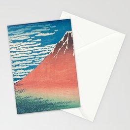 Katsushika Hokusai - Red Fuji Woodblock Print Stationery Cards