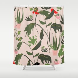 Rose Gilrs Party Shower Curtain