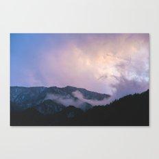 Japanese purple mountains Canvas Print