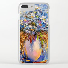 Bouquet of cornflowers Clear iPhone Case