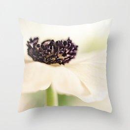 Vulnerable white beauty bathing in light.... Throw Pillow