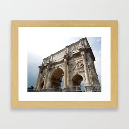 Rome Arch of Constantine Framed Art Print