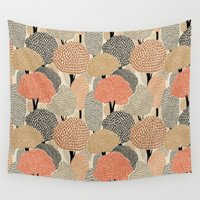 60s Wall Tapestries featuring Autumn forest by A.Vogler