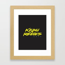 Keanu 2077 Framed Art Print