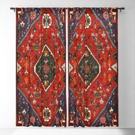 Red & Blue Vintage Bereber Moroccan Bohemian Artwork. Blackout Curtain