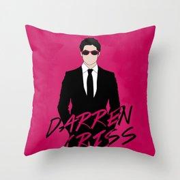Pink Darren Criss Throw Pillow