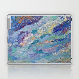 Summer Clouds - impressionism abstract summer nature landscape by Adriana Dziuba Laptop & iPad Skin