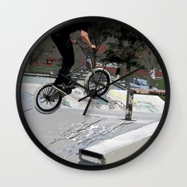"""Getting Air"" - BMX Rider Wall Clock"