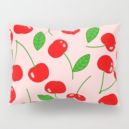 Illustrated Cherry Pattern Pillow Sham