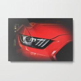 Mustang car Metal Print