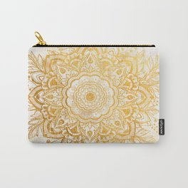 Queen Starring of Mandala-Gold Sunflower II Carry-All Pouch