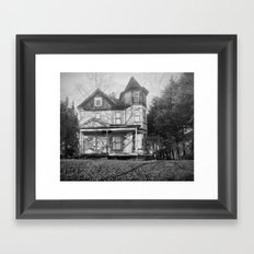 ghost house Framed Art Print