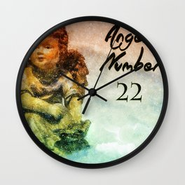 Angel Number 22 Wall Clock
