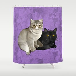 Trixie and Monty Shower Curtain