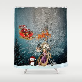 Tangled of Christmas Shower Curtain
