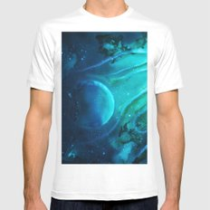 Space squid MEDIUM Mens Fitted Tee White